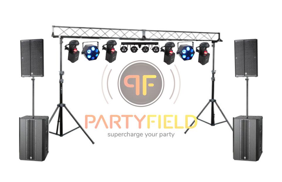 partyfield-verhuur-aanbod-pakketten-Licht_geluid_medium_set